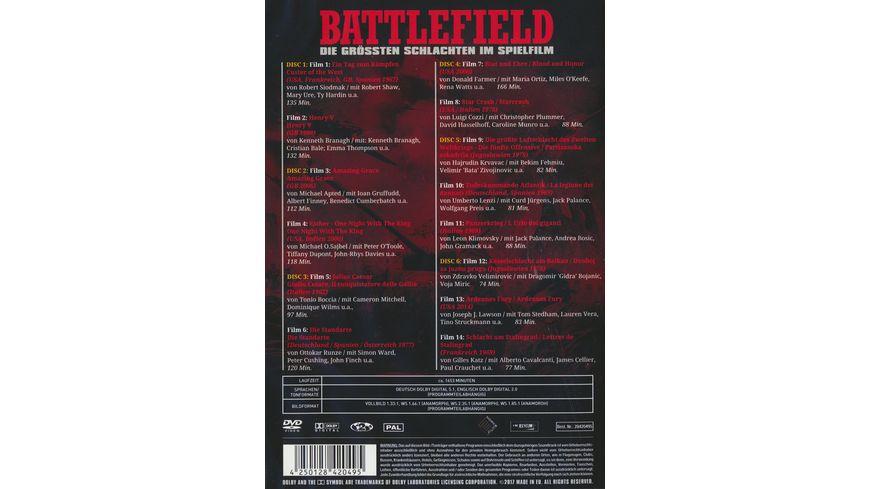 Battlefield Die groessten Schlachten im Spielfilm 6 DVDs