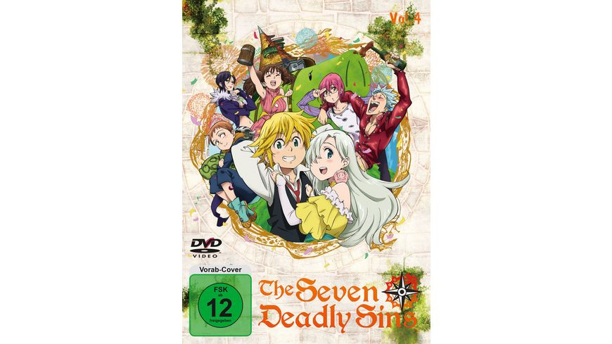 The Seven Deadly Sins Vol 4 Episode 19 24 2 DVDs