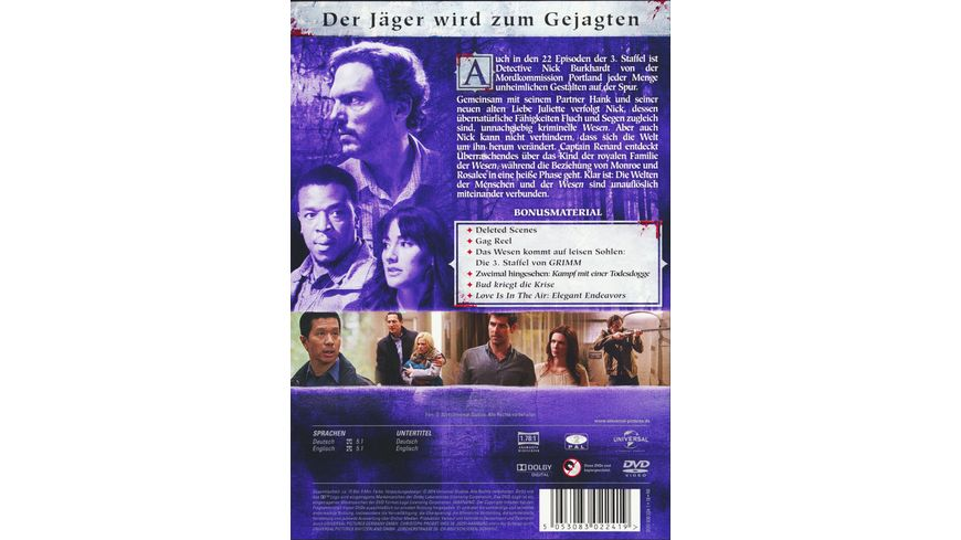 Grimm Staffel 3 6 DVDs