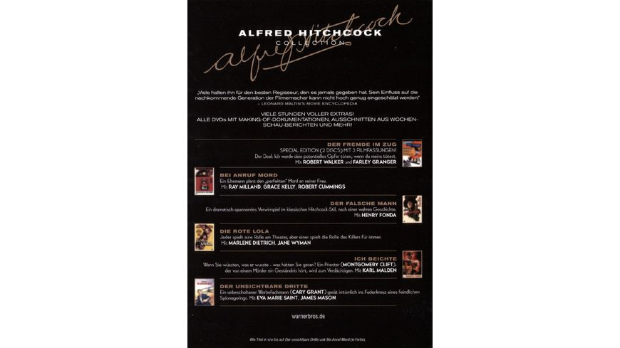 Alfred Hitchcock Collection 7 DVDs