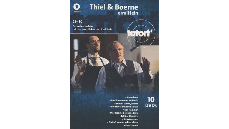 Tatort Muenster Thiel und Boerne ermitteln Fall 21 30 10 DVDs