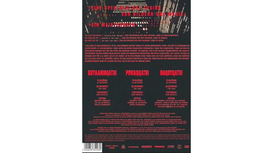 Die Qatsi Trilogie Remastered Edition 3 DVDs