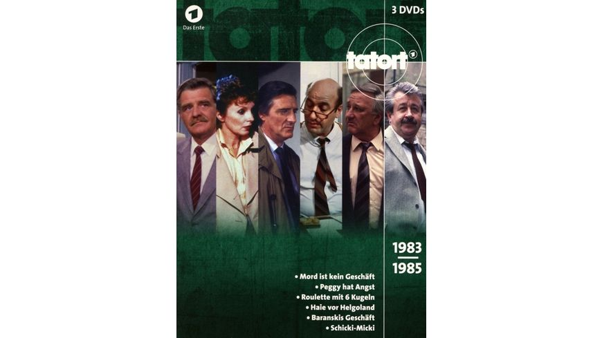 Tatort Klassiker 80er Box 2 1983 1985 3 DVDs