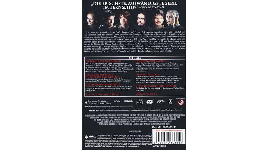 Game of Thrones Staffel 4 5 DVDs