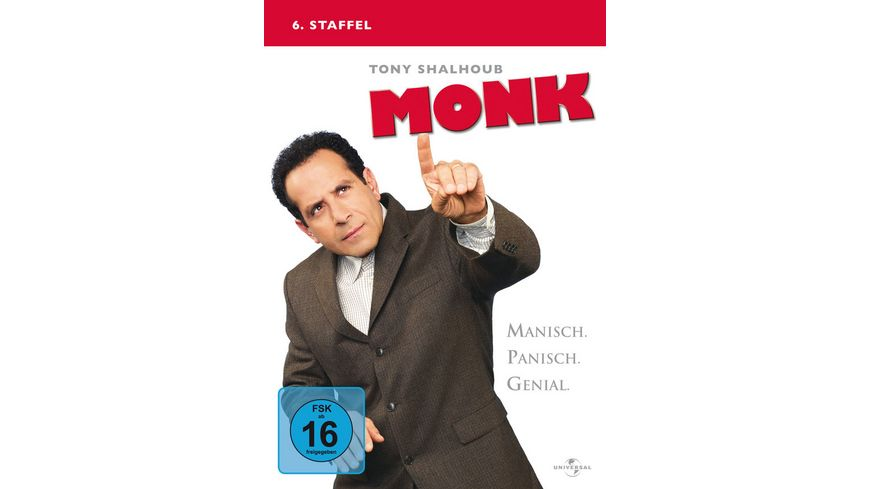 Monk Staffel 6 4 DVDs