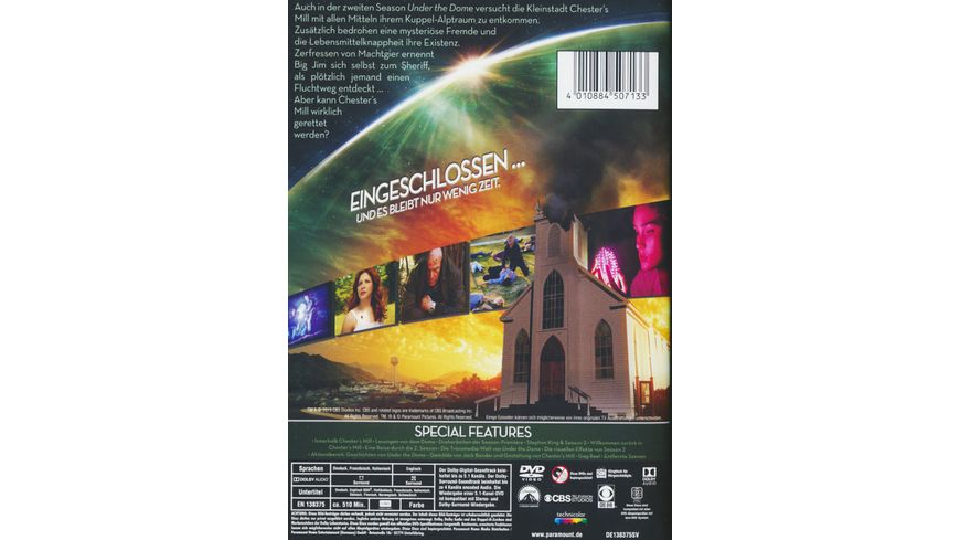 Under the Dome Season 2 4 DVDs
