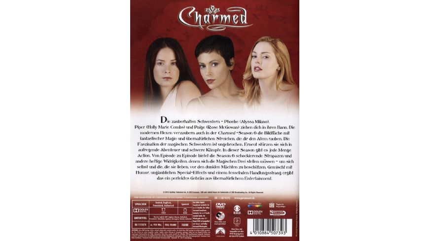 Charmed Season 6 6 DVDs