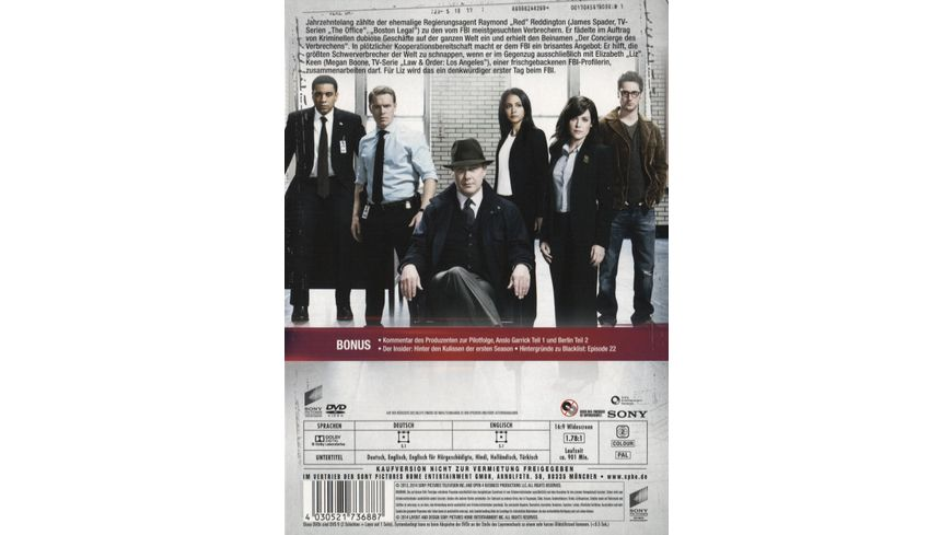 The Blacklist Season 1 6 DVDs