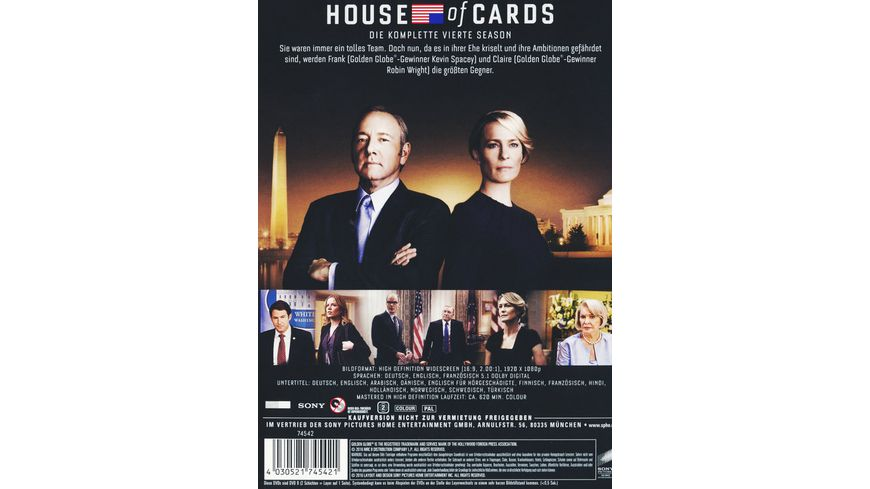 House of Cards Season 4 4 DVDs