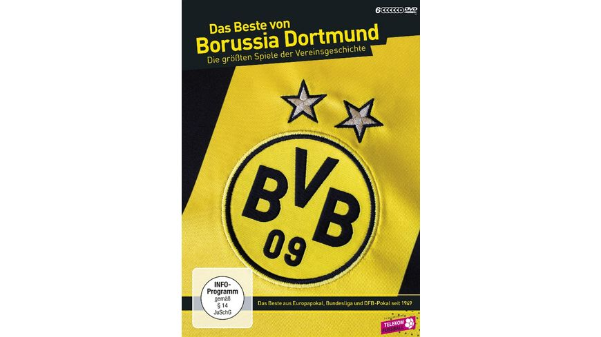 Das Beste von Borussia Dortmund Die groessten Spiele der Vereinsgeschichte 6 DVDs