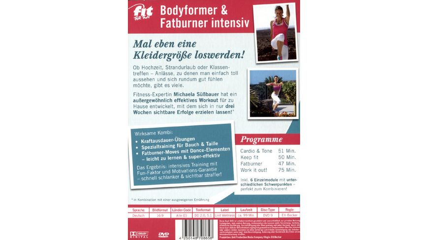 Fit for Fun Bodyformer Fatburner intensiv 3 Wochen 1 Groesse weniger
