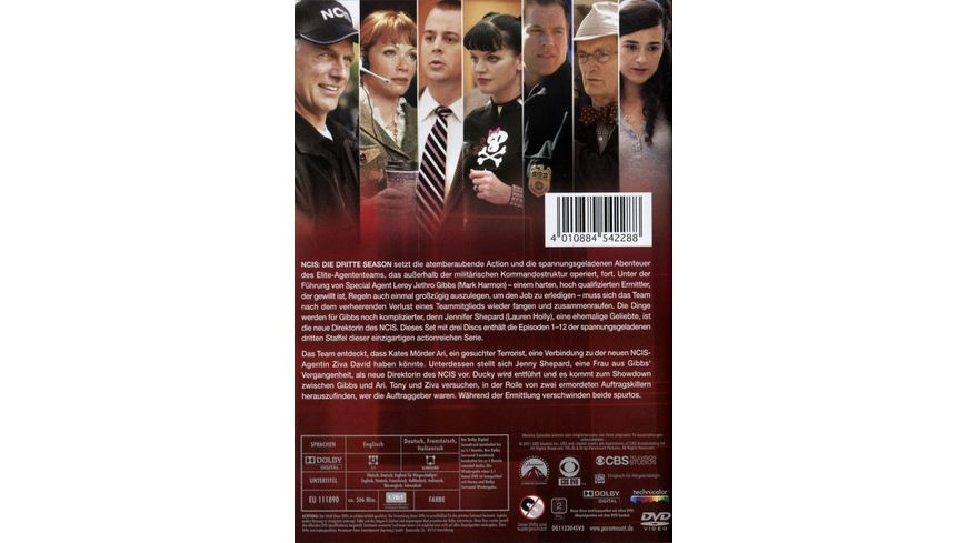 NCIS Naval Criminal Investigate Service Season 3 1 3 DVDs
