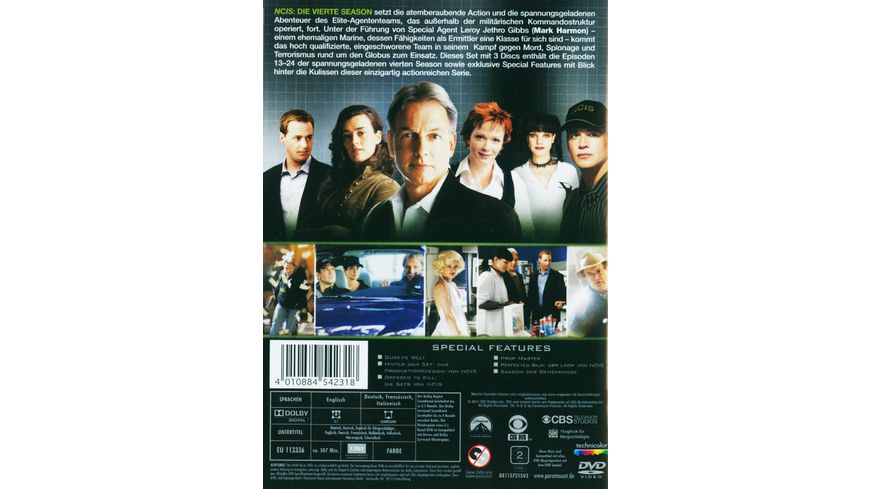 NCIS Naval Criminal Investigate Service Season 4 2 3 DVDs