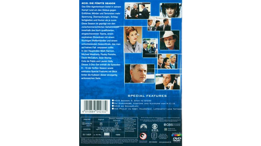 NCIS Naval Criminal Investigate Service Season 5 2 3 DVDs