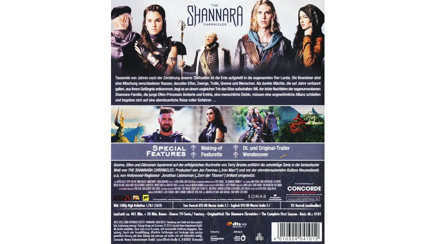 The Shannara Chronicles Die komplette 1 Staffel 2 BRs