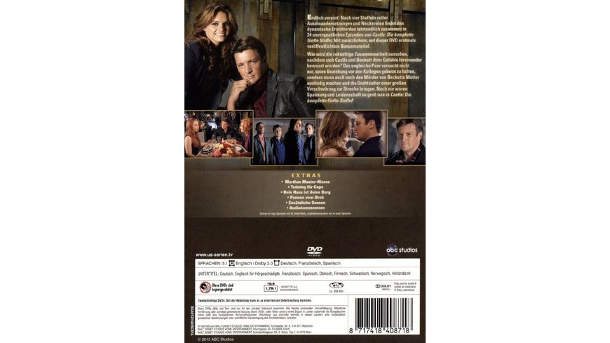 Castle Staffel 5 6 DVDs