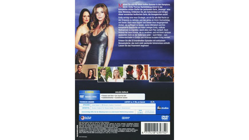 Revenge Staffel 3 6 DVDs