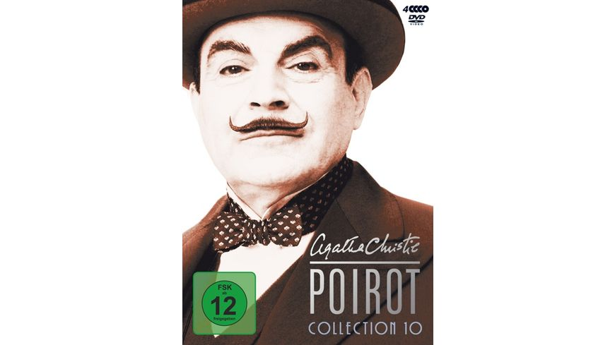 Agatha Christie Poirot Collection 10 4 DVDs