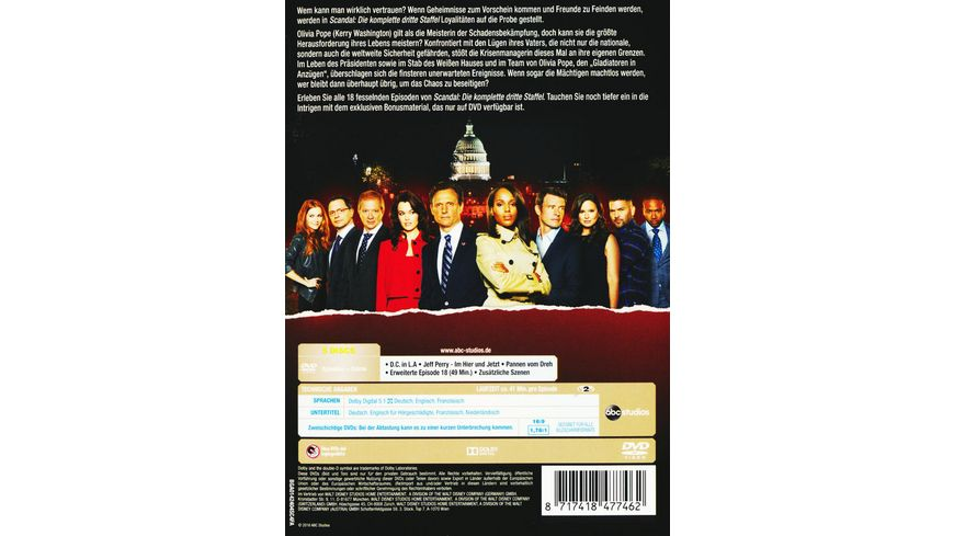 Scandal Staffel 3 5 DVDs