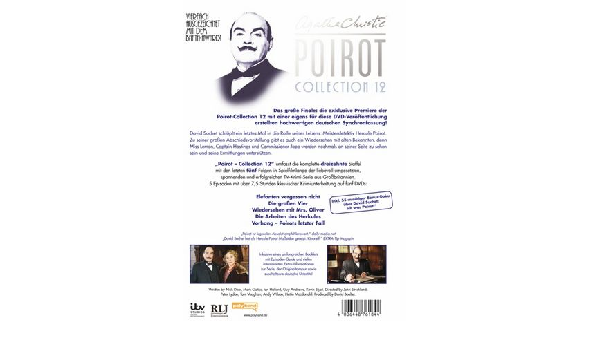 Agatha Christie Poirot Collection 12 5 DVDs