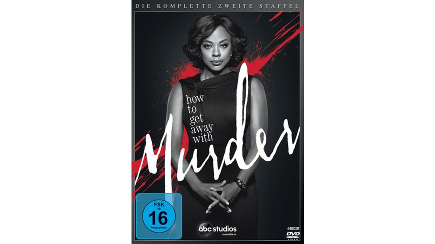 How to get away with Murder Die komplette zweite Staffel 4 DVDs