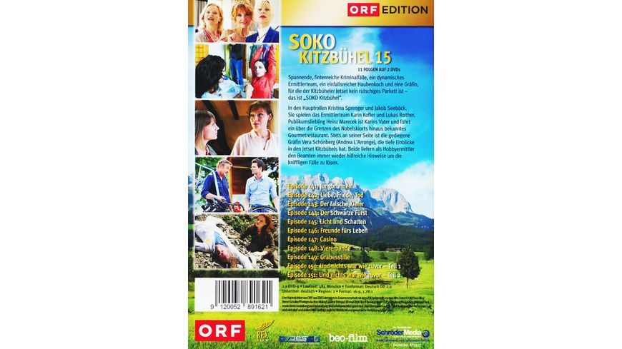 SOKO Kitzbuehel Box 15 2 DVDs