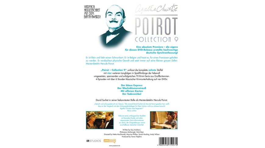 Agatha Christie Poirot Collection 9 4 DVDs