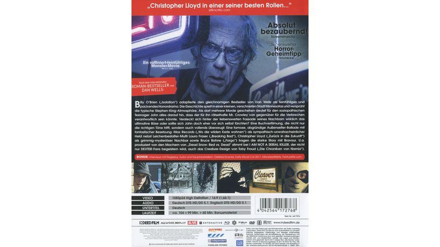 I am not a Serial Killer Uncut Mediabook DVD LE