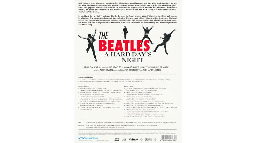 Beatles A Hard Day s Night SE 4 DVDs