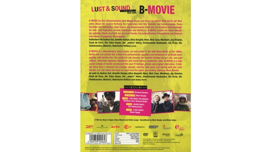 B Movie Lust Sound in West Berlin 1979 1989