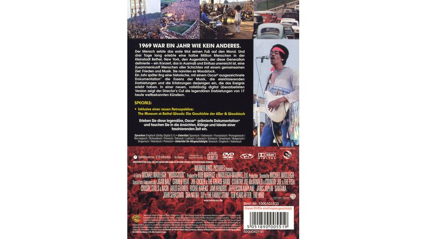 Woodstock 40th Anniversary Edition DC 2 DVDs