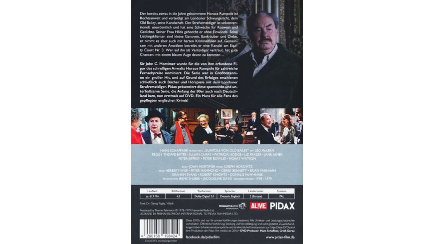 Rumpole von Old Bailey Verteidiger fuer Strafsachen 3 DVDs