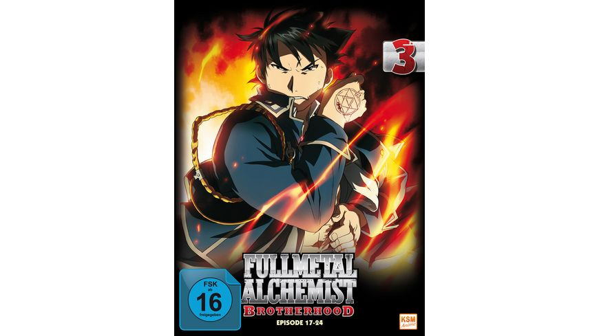 Fullmetal Alchemist Brotherhood Vol 3 Episode 17 24 LE 2 DVDs