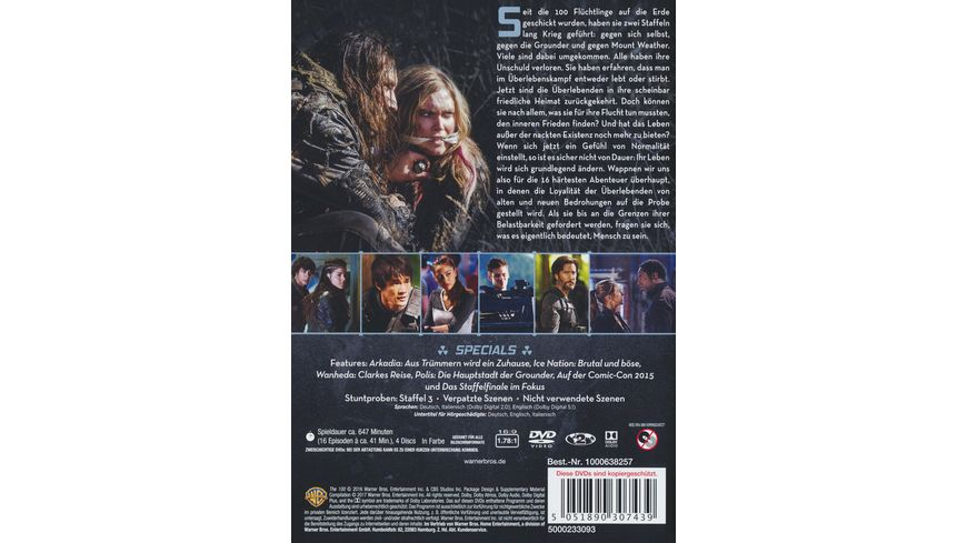 The 100 Die komplette 3 Staffel 4 DVDs