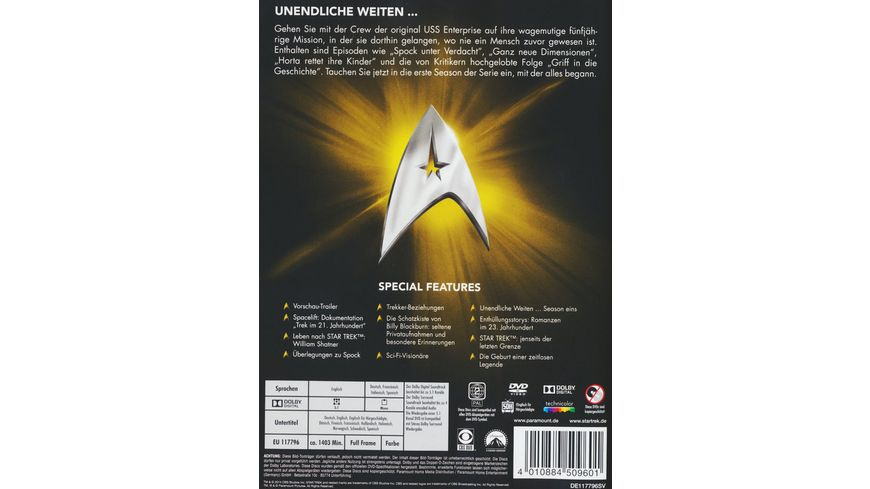 Star Trek Raumschiff Enterprise Staffel 1 8 DVDs