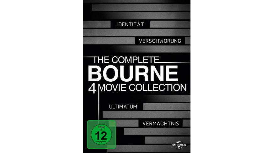 The Complete Bourne Collection 4 DVDs