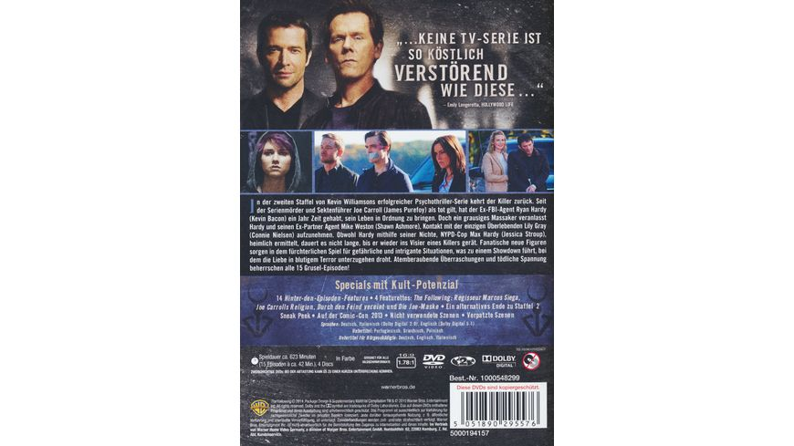 The Following Staffel 2 4 DVDs