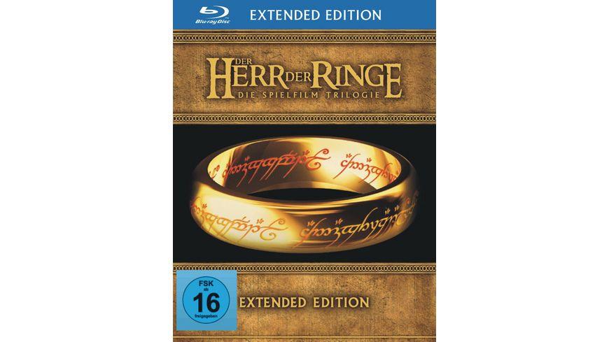 Der Herr der Ringe 1 3 Trilogie Extended Edition 6 BRs 9 DVDs