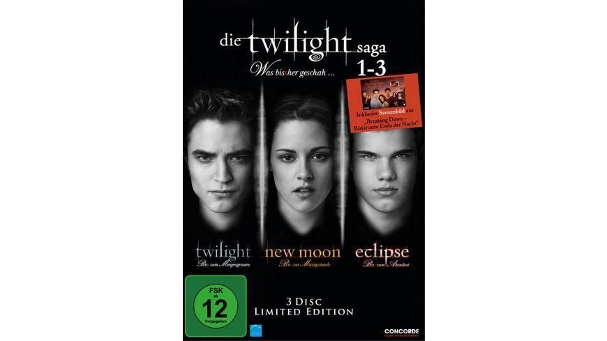 Die Twilight Saga 1 3 Twilight New Moon Eclipse LE 3 DVDs