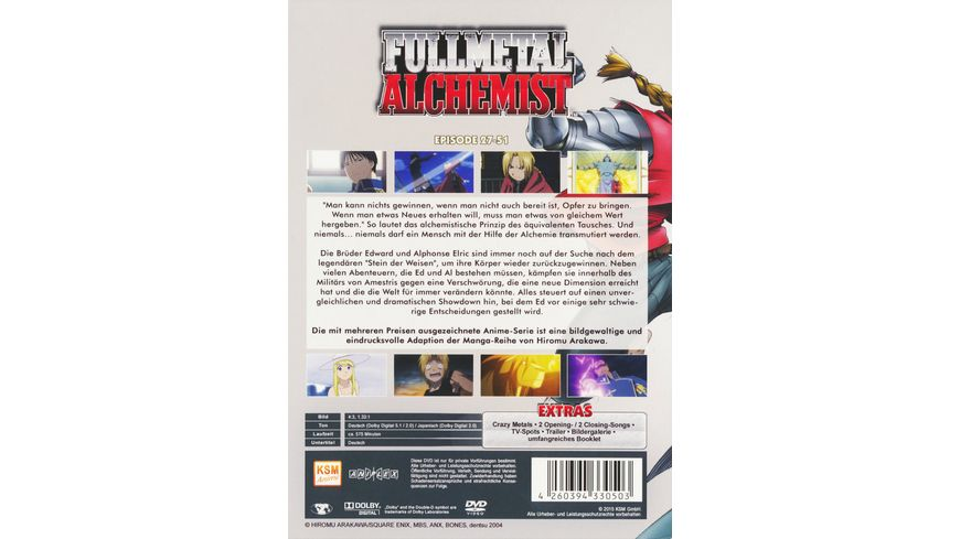 Fullmetal Alchemist Box 2 Folge 27 51 5 DVDs