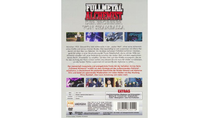 Fullmetal Alchemist Der Eroberer von Shamballa