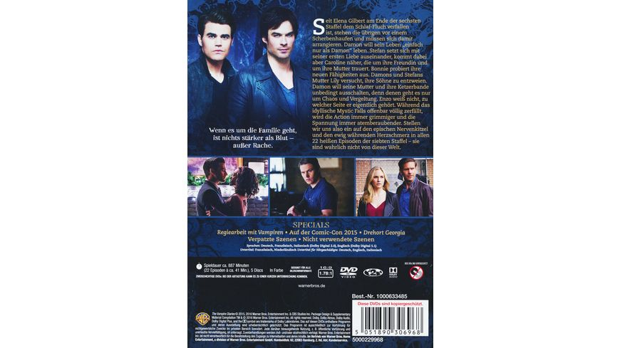 The Vampire Diaries Staffel 7 5 DVDs