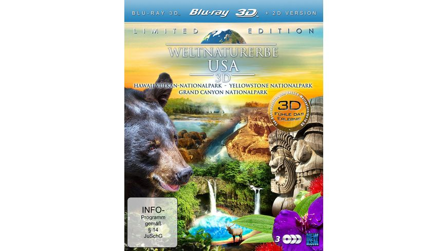 Weltnaturerbe USA 3D LE 3 BRs