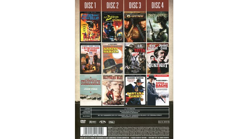Western 4 DVDs