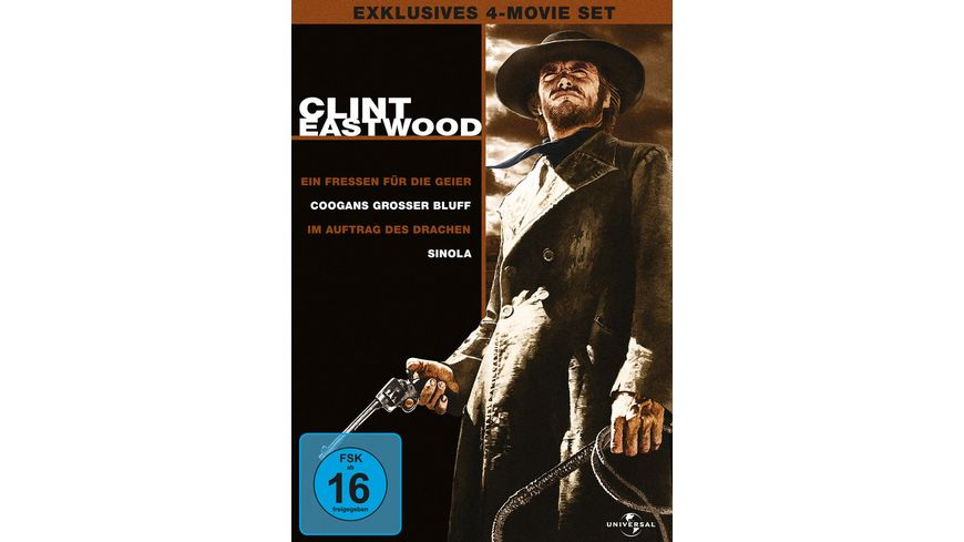 Clint Eastwood Collection 4 Movie Set 4 DVDs