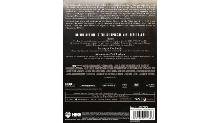The Pacific 6 DVDs