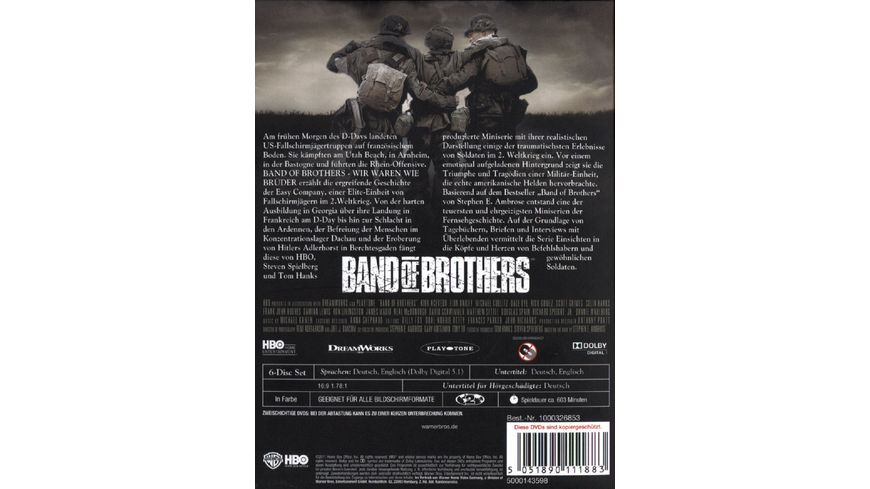 Band of Brothers Box Set 6 DVDs