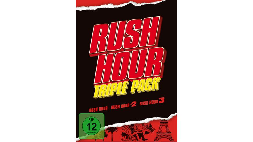 Rush Hour Trilogy 3 DVDs