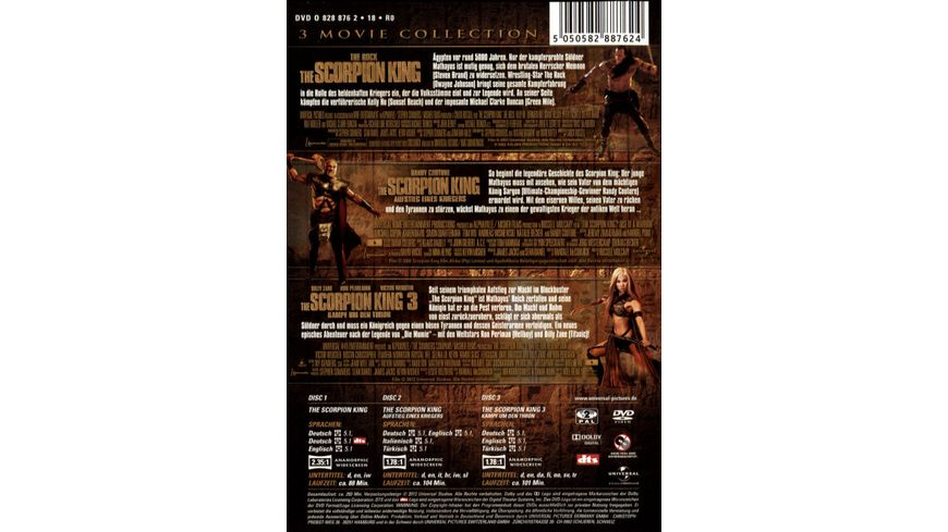 The Scorpion King 1 3 Box 3 DVDs