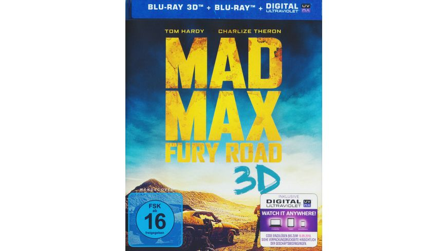 Mad Max Fury Road Blu ray 2D inkl Digital Ultraviolet